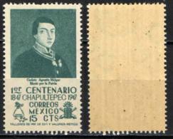 MESSICO - 1947 - CENTENARIO DELLA BATTAGLIA DI CHAPULTECO - CADETTO AGUSTIN MELGAR - MNH - Messico