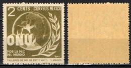 MESSICO - 1946 - ALLEGORIA DELLA PACE NEL MONDO - ONU - MNH - Messico