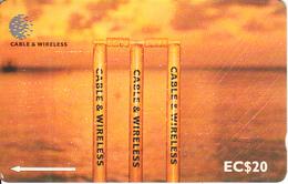 ST. VINCENT & THE GRENADINES(GPT) - C & W Cricket Series/Sunset, CN : 276CSVC/B, Tirage 15000, Used - Saint-Vincent-et-les-Grenadines