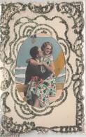 CPA-BELLE CARTE- Couple Amoureux-message A L'intérieur -cordon - Couples