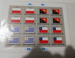 2759) USA BANDIERE FLAGS STAMPS SERIES 4 FOGLIETTI NUOVI - Fogli Completi