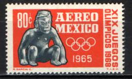 MESSICO - 1965 - VERSO LE OLIMPIADI DI CITTA' DEL MESSICO - MEXICO '68 - MNH - Messico