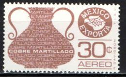 MESSICO - 1976 - ESPORTAZIONE: VASELLAME IN RAME - MNH - Messico