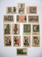 Czechoslovakia Series 15 Matchbox Label 1964 - Arts And Crafts - Pottery, Ceramics - Boites D'allumettes - Etiquettes