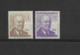 CHILE 1965 ENRIQUE MOLINA, UNIVERSITY DIRECTOR, PORTRAIT SCOTT 345, C257,  MICHEL 625-6 - Chile