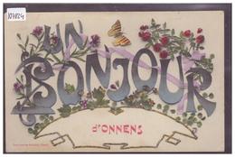 DISTRICT DE GRANDSON - UN BONJOUR D'ONNENS - TB - VD Vaud