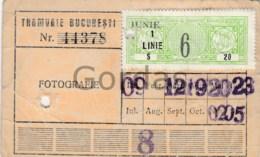 Romania - Bucuresti - Fiscal Stamp - Abonament Tramvai - Abonnements Hebdomadaires & Mensuels