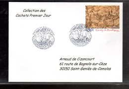 """"""" GROTTE DE ROUFFIGNAC """" Sur Enveloppe 1er Jour De 2006 De La Collection """" CACHETS PREMIER JOUR """" N° YT 3995. - Préhistoire"""