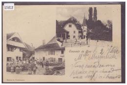 DISTRICT DE GRANDSON - SOUVENIR DE GIEZ - B ( FENTE 7mm COIN HAUT GAUCHE ) - VD Vaud
