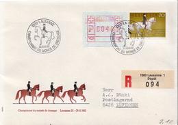 Postal History: Switzerland Registered Cover - Horses