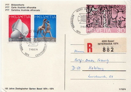 Postal History: Switzerland Registered Postcard - Philatelic Exhibitions