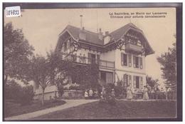 DISTRICT DE LAUSANNE - EPALINGES EN MARIN - LA SAPINIERE, CLINIQUE POUR ENFANTS - ( FORT PLI VERTICAL ) - VD Vaud