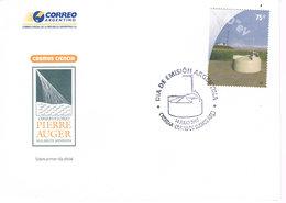 Argentinien / Argentina FDC 3136 - Pierre-Auger-Observatorium, Kosmische Strahlung - FDC
