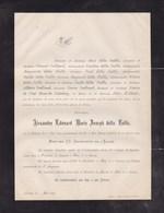 WAERLOOS WAARLOOS Alexandre Della FAILLE 1803-1882 Anvers San Remo Italie Famille GEELHAND De PRET ROOSE - Obituary Notices