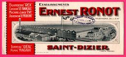 BUVARD Illustré - Ernest RONOT - Usine - Abreuvoir - Machine - Cuiseur - Tonneau - Pompe - Saint Dizier (51) - COLMADIN - Autres