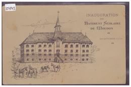 DISTRICT DE MOUDON - MOUDON - INAUGURATION DU BATIMENT SCOLAIRE LE 24 OCTOBRE 1908 - B ( 2 PLIS D'ANGLE ) - VD Vaud