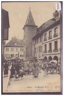 DISTRICT DE NYON - NYON - LE MARCHE - ATTELAGE - B ( LEGER PLI  EN HAUT ) - VD Vaud