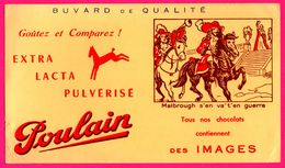 Lot De 2 BUVARD - Chocolat POULAIN - Malbrough S'en Va T'en Guerre - Joli Tambour - Chocolat