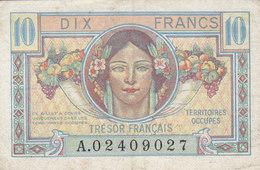 Billet 10 F Trésor Français 1947 FAY  VF 30.01 - Trésor