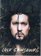 Photo Signée Lulu GAINSBOURG - Autographs