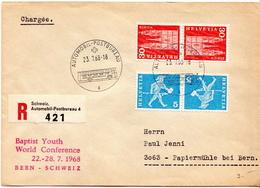 Postal History: Switzerland Registered Cover With Automobil Postbureau Cancel - Switzerland