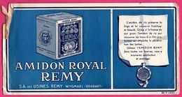 BUVARD - Amidon Royal Remy - S.A. Des Usines Remy Wygmael (Brabant) - Louvain - Boite 250 Grammes - Produits Ménagers
