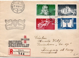 Postal History: Switzerland Registered Cover With Full Set And Schweiz. Automobil Postbureau S Cancel - Switzerland