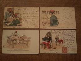 Humoristique Militaire - Illustrateur Guillaume, Soldat, Militaire, L'élève De Bonnat, Alignement, Au Bureau, Punition - Humoristiques