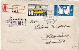 Postal History: Switzerland Registered Cover With Schweiz. Automobil Postbureau And OLMA Cancel - Switzerland