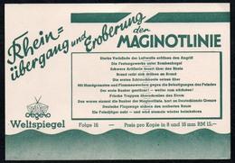C0182 - Tobis Degeto Weltspiegel - Werbekarte Werbung - Maginotlinie - Schmalfilm - Werbepostkarten
