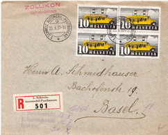 Postal History: Switzerland Registered Cover With 1. Schweiz. Automobil Postbureau Cancel From 1937 - Switzerland
