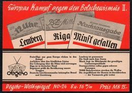 C0183 - Tobis Degeto Weltspiegel - Werbekarte Werbung - Kampf Gegen Bolschewismus - Schmalfilm - Werbepostkarten