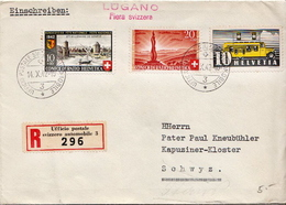 Postal History: Switzerland Registered Cover With Ufficio Postale Swizzero Automobile 3 Cancel From 1942 - Suisse