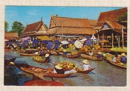 8AK3982 FLOATING MARKET NEAR BANGKOK IN THAILAND 2 SCANS - Thaïlande