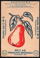 C0185 - MEZ AG Freiburg Breisgau - Werbekarte Werbung - Handarbeitsgarne - Ausstickbild - Werbepostkarten