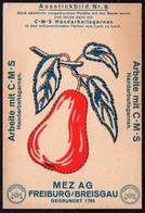 C0186 - MEZ AG Freiburg Breisgau - Werbekarte Werbung - Handarbeitsgarne - Ausstickbild - Werbepostkarten