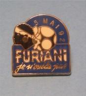 Pins OM BASTIA 5 Mai 92 FURIANI Je N'oublie Pas Tribune Stade Armand-Cesari Olympique Marseille 1/2 Finale Coupe France - Fussball