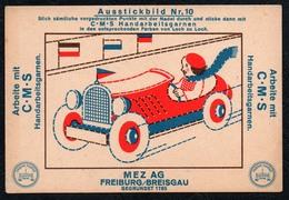 C0187 - MEZ AG Freiburg Breisgau - Werbekarte Werbung - Handarbeitsgarne - Ausstickbild - Werbepostkarten