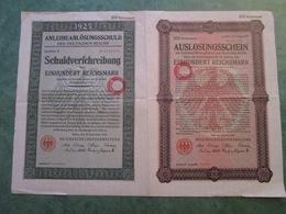 AUSLOSUNGSSCHEIN - 100 Reichsmark - N° 40.774 - Actions & Titres
