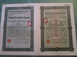 AUSLOSUNGSSCHEIN - 25 Reichsmark - N°57.987 - Actions & Titres