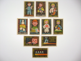 Czechoslovakia Series 10 Matchbox Label 1964 - Take Care Of Your Teeth - Children, Health - Boites D'allumettes - Etiquettes