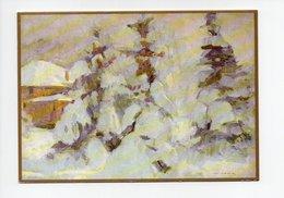 Carte Double: Tivoli Sous La Neige, Tivoli In Tye Snow, Yougoslavie, Par Matija Jama (18-3612) - Yougoslavie
