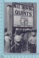 """Les Quintuplées Dionne # 25 - CPM """" Jumelles Dionne""""  Né En 1934, Horaire Des Spectacles Des Enfants- Ont, Canada - Ontario"""