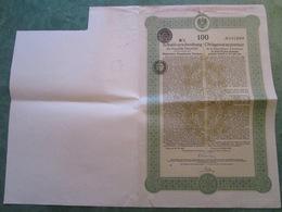 EMPRUNT FUNDING AUTRICHIEN - Obligation Au Porteur De 100 Francs N°167.660 (3 Documents) - Actions & Titres