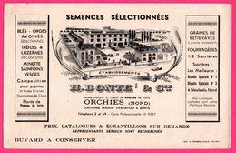 BUVARD Illustré - Ets H. BONTE - VERDAVOIR - Semences Sélectionnées - Betteraves - Orges - ORCHIES (59) - Imp. A. THOREZ - Agriculture