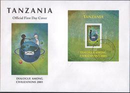 Tanzania- FDC UN Dialogue Among Civilization (Set Of Two) - Tanzania (1964-...)