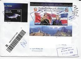 SOBRES AMERICA  ///  PERU CARTA - DIRECCION BORRADA CON PAINT - Peru