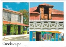 Guadeloupe - Multi Vues - 3 Vues - 1 Timbre Philatélique Au Verso - Voir Scan - Cpm - écrite - - Guadeloupe