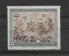 CHILE 1964, 150TH ANNIVERSARY BATTLE OF RANCAGUA, HISTORY 1 VALUE, SC# C255 MICHEL 636 USED - Chile