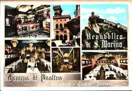 82029) CARTOLINA DI SAN MARINO-VARIE VEDUTE-TAVERNA DI PAOLINO-NUOVA - San Marino